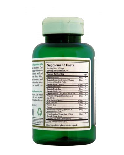 ''Green Organic Supplements' Edema & Diuretic Plus, Water Retention''