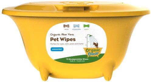 Organic Unscented Pet Wipes Organic Oscar PWUCT-075