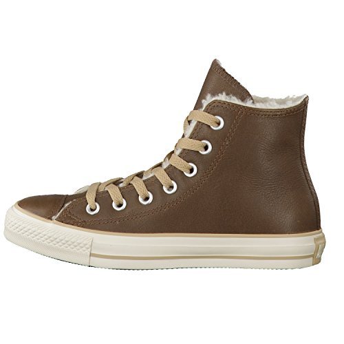 Converse Chuck Taylor All Star Shearling Leather Hi, Zapatillas Altas Unisex Adulto, Negro Noir