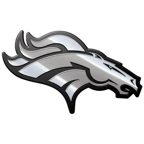 denver broncos metal car emblem - 2