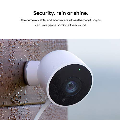 Google Nest Cam Outdoor - Weatherproof Outdoor Camera for Home Security - Surveillance Camera with Night Vision…