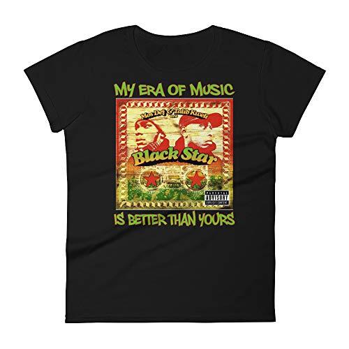 (Black Star My Era of Music (80's & 90's) Women's T-Shirt (Small) )