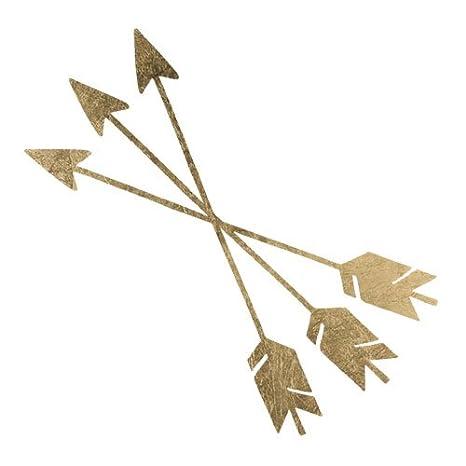 Gold Crossed Arrows Temporary Tattoo by TattooFun: Amazon.es: Belleza