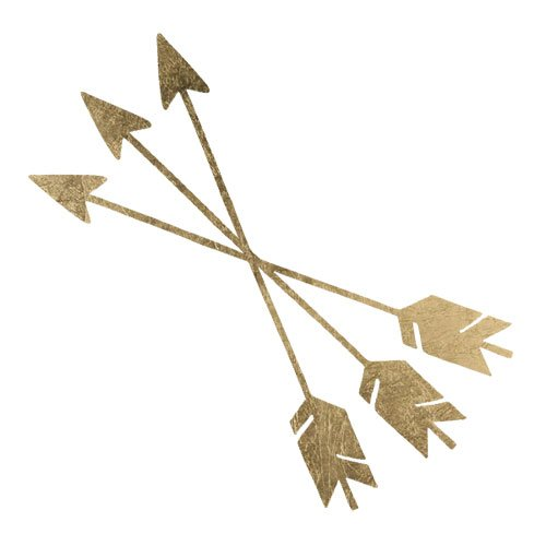 Gold Crossed Arrows Temporary Tattoo by TattooFun: Amazon.es: Belleza