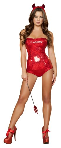 Roma Costume 3 Piece Devilish Delight Costume, Red, Small
