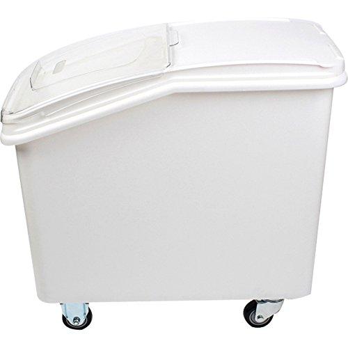 - Ingredient Bin 27 Gallon Mobile Food Storage Clear Lid Casters US