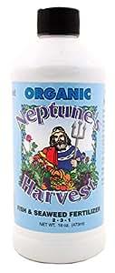 Neptune's Harvest  FS118 Fish & Seaweed Blend Fertilizer 2-3-1, 18 oz