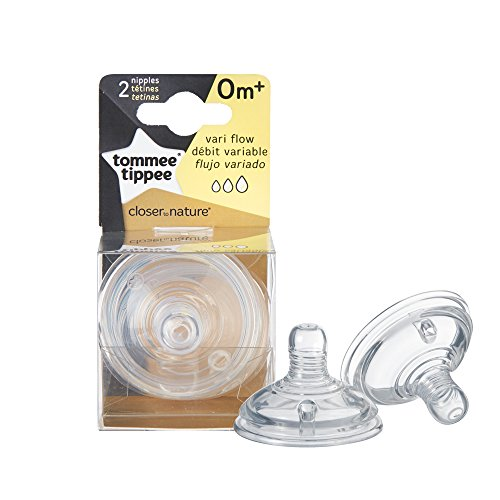 Tommee Tippee 2-Pack Closer to Nature Variable Flow Nipples - 0m (Adding Cereal To Breast Milk For Reflux)