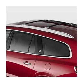 Charming GM # 12499978 Roof Rack Cross Rail Package   Black Rails With Chrome End Cap