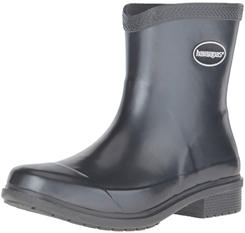 Havaianas Womens Galochas Low Metallic Rainboot Rain Boot Dark Grey/Metallic