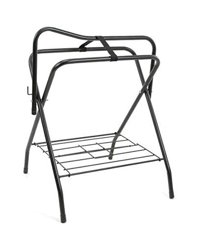 Tough-1 Collapsible Saddle Rack - Black