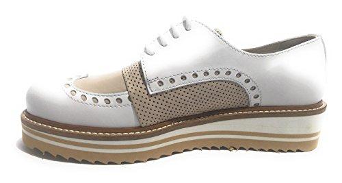 YOX By N. BARBATO - Zapatos de cordones de Piel para mujer BIANCO / BEIGE 36