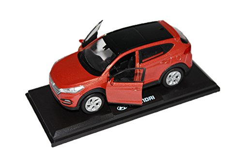 PINO [HYUNDAI Brand Collection] 1:38 Scale For Hyundai 2016+ Tucson TL Diecast Model MiniAture Car Toy - Sedona Orange