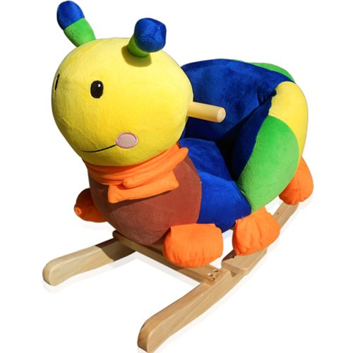 [mia.home®]Baby Kinder Schaukelpferd Stuhl mit Sound Plüsch Schaukel Schaukeltier 215119