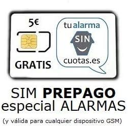 Tarjeta SIM para Alarma PREPAGO SIN cuotas fijas mensuales NI permanencia, con Recarga automática ¡¡ Especial para Alarmas gsm, localizadores/rastreadores GPS y Dispositivos gsm !!