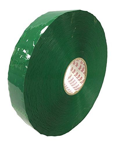 Chu's Packaging Supplies TIM210GN48914 Super Tape Acrylic Carton Sealing Packaging Tape Machine Rolls, 2.0 mil, Green, 2