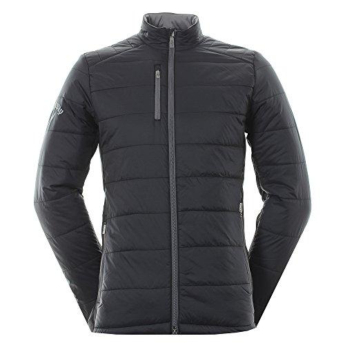 Callaway 2017 Mens Golf Opti-Therm Fibre Filled Puffer Fleece Windproof  Jacket Caviar XXL