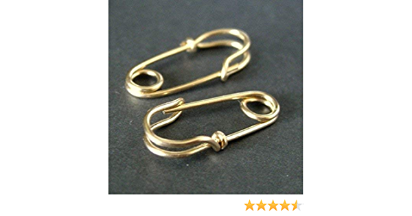 14k rose gold filled double loops Mini Safety Pin Earrings - everyday hoop earrings in sterling silver,14k yellow gold filled