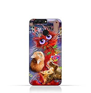 Huawei Nova 2 Plus TPU Silicone Protective Case with Adorable Cute Cats Design