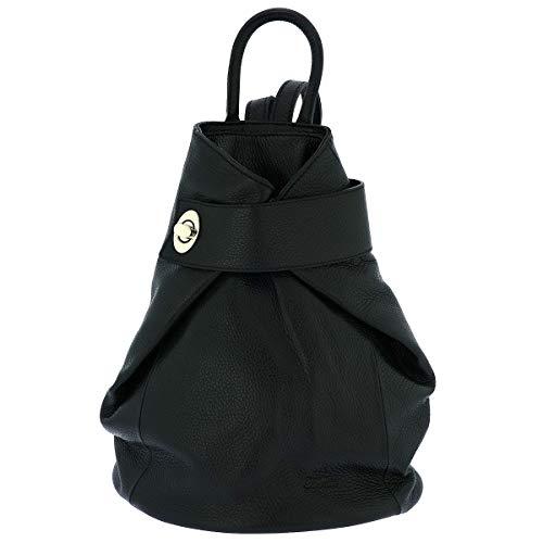 Fioretta Italian Genuine Leather Top Handle Backpack Handbag For Women