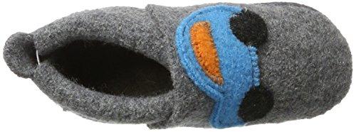 Pololo Wolli Auto, Zapatillas de Estar por Casa para Niños gris