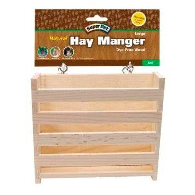 Natural Wooden Hay Manger from Super Pet