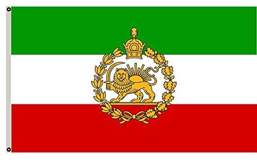Fyon Naval flag of Iran 1933-1980 banner Iranian pre-revolutionary banner landscape flag 12x18inch