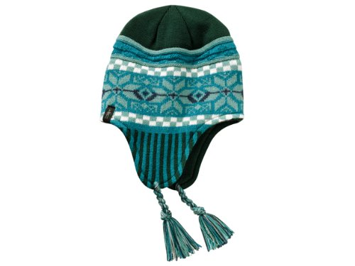 Smartwool Snowflake Pop Hat, Evergreen (Glove Smartwool Liner)