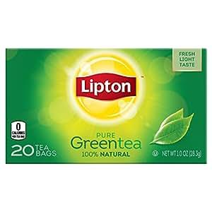 Lipton Green Tea, Pure, 10 Ounce