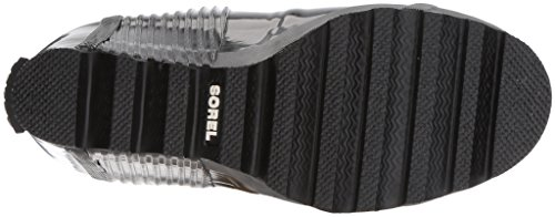 Sorel Womens Joan Wedge Stivale Pioggia Lucido Nero, Sale Marino