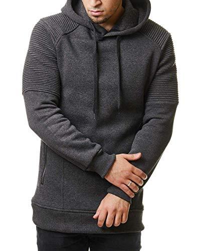 BBYIKAI Sweatshirts Winter Plus Baumwolle Herren Sportlicher Hoodie Style Gestreiften Pullover Falten