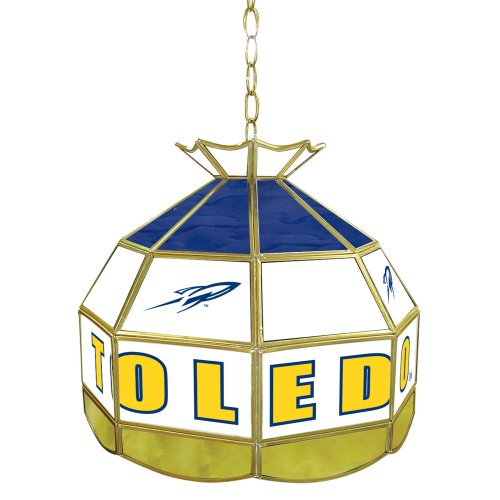 NCAA Toledo 16-Inch Stained Glass Tiffany Lamp by Trademark Global