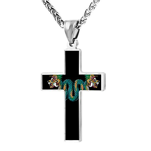 Kenlove87 Patriotic Cross Jaguar Religious Lord'S Zinc Jewelry Pendant ()