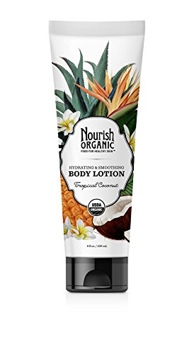 Nourish Organic Hydrating & Smoothing Body Lotion, Tropical Coconut, 8 Fluid ()