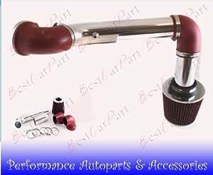 95 96 97 Pontiac Firebird V6 3.8l Cold Air Intake 2pcs Red (Included Air Filter) #Cai-ch004r