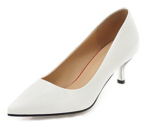Blanc De Chaussures Pointue Aisun Escarpins Simple Femme Style Travail q8fftBT4