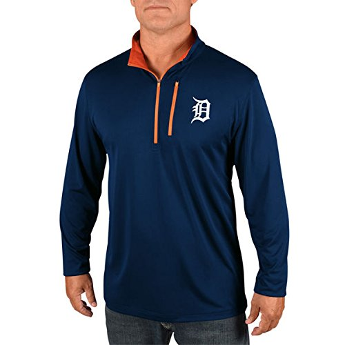 - Detroit Tigers Majestic MLB Men's Six-Four-Three 1/2 Zip Pullover - Navy (2X-Large)