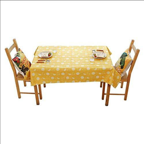 C 140140cm HPSD Linge de Table Nordic Table Cloth Table Basse Salon Nappe Rectangulaire Cuisine Restaurant Table De Soirée Toile, imperméable, intérieur ou extérieur (Couleur   C, Taille   140  140cm)