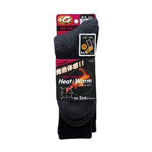 おたふく手袋 ボディータフネス BTサーモソックス フットパイル 先丸(2P) ブラック JW-134