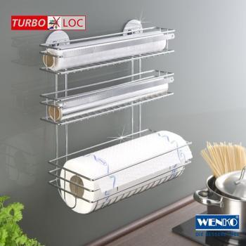 Küchenrollenhalter Ohne Bohren wenko 5630100 turbo loc küchenrollenhalter trio befestigen ohne