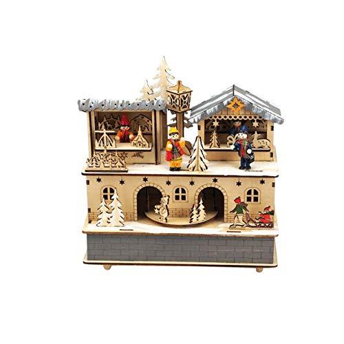 Victorian Christmas Music Box - Musicbox Kingdom Musicbox Kingdom-56095 Wooden Music Box