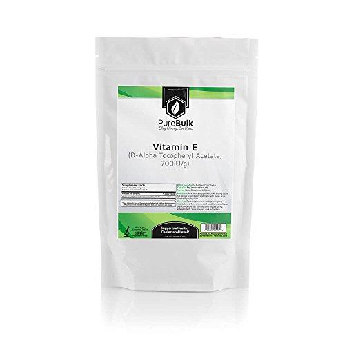 PureBulk D-Alpha Tocopheryl Acetate powder (Vitamin E) (700 IU) Container:Bag Size:25g Powder