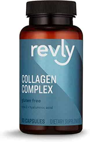 Amazon Brand - Revly Collagen Complex with Hyaluronic Acid, 90 Capsules, 3 Month Supply