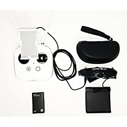 KumbaCam FPV Goggle Kit for DJI Phantom 3 and 4. FlySight SpeXman (Front Facing Camera, HDMI 1080p)