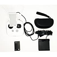 KumbaCam FPV Goggle Kit for DJI Phantom 3 and 4. FlySight SpeXman (Front Facing Camera, HDMI 1080p)