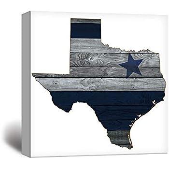 wall26 - Dallas Cowboy Star Wood Background - Canvas Art Wall Decor - 12