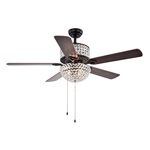 "Supplies of Tiffany CFL-8170BL Laure Crystal 6-light 52"" Ceiling Fan"