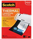 Scotch Thermal Laminating Pouches, 8.9 x 11.4-Inches, 3 mil thick, (TP3854-50),Clear by Scotch