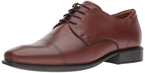 ECCO Men's Cairo Cap Toe Tie Oxford, Cognac Smooth, 43 EU/9-9.5 (Ecco Cap Toe Cap)
