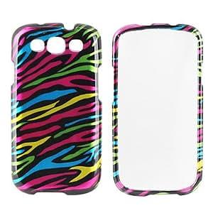 YULIN rayas de colores patrón de caso difícil para Samsung Galaxy i9300 s3 (multicolor)